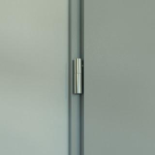 Metal BASIC incl. manija y marco de puerta blanco DIN 100 R